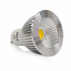 Miidex Lighting - {reference} - Ampoule LED GU10 Spot 5W 3000°K Aluminium 75°