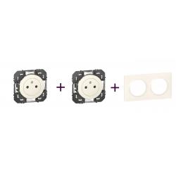 Legrand | Pack Dooxie  2P+T x2 + Plaque 2P