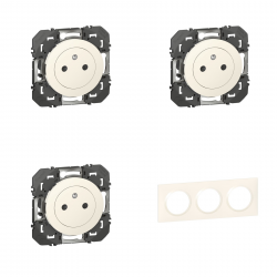 Legrand - {reference} - Legrand | Pack Dooxie 3x2P+T  + Plaque 3P Blanc