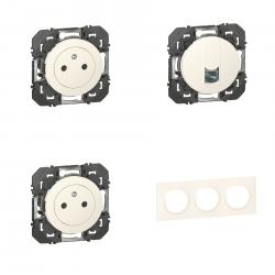 Legrand | Pack Dooxie 2x2P+T + RJ45 + Plaque 3P