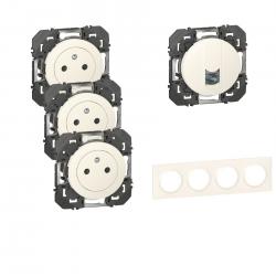 Legrand | Pack Dooxie 3x2P+T + RJ45 + Plaque 4P