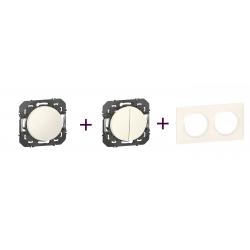 Legrand | Dooxie - Pack Transformateur + Poussoir + plaque 2P Blanc