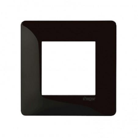 Hager - {reference} - Hager - WE401N - Essensya Plaque 1 poste Noire