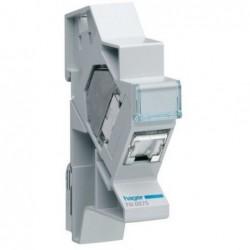 Hager - {reference} - Hager - TN007S - Connecteur RJ45 cat.6 pr Gr2TV