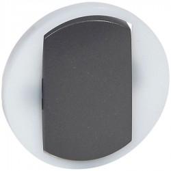 Legrand - {reference} - Legrand - 065204 - Enjoliveur large Céliane interrupteur / va-et-vient / poussoir lumineux - graphite