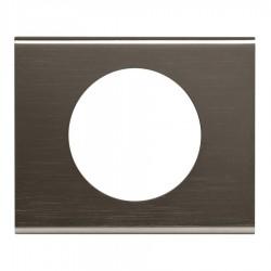 Legrand - {reference} - Legrand - 069031 - Plaque Céliane Matières 1 poste - finition Black Nickel