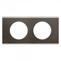 Legrand - {reference} - Legrand - 069032 - Plaque Céliane Matières 2 postes - finition Black Nickel