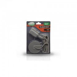 Miidex Lighting - {reference} - DOUILLE E27 SILICON + CABLE 2 M GRIS