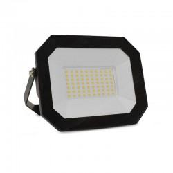 Miidex Lighting - {reference} - Projecteur Extérieur LED Plat Noir 50W 4000K sans câble