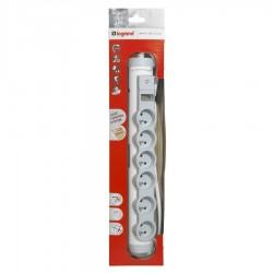 Legrand - 050093 - Rallonge multiprise confort et sécurité - indicateur de surcharge - 6x2P+T