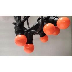 Rêvenergie   Guirlande guinguette 20 ampoules B22 Orange 10m