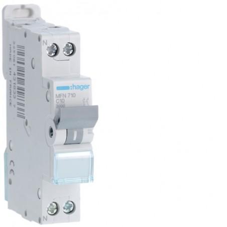 [ MFN710 ] Disjoncteur 1 P+N :  3kA C-10A 1 Module