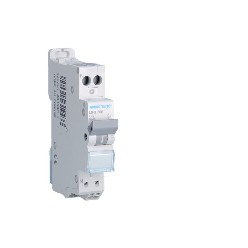 [ MFS706 ] Disjoncteur 1 P+N :  3kA C-6A connexion SanVis 1 Module