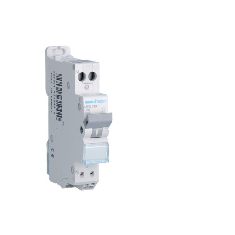 [ MFS710 ] Disjoncteur 1 P+N :  3kA C-10A connexion SanVis 1 Module