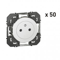 Legrand - {reference} - 50X PRISES 2P+T SURFACE BLANC