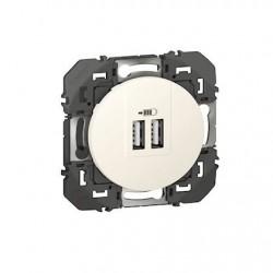 DOOXIE CHARGEUR 2 USB A+A 2.4A 12 W BLANC