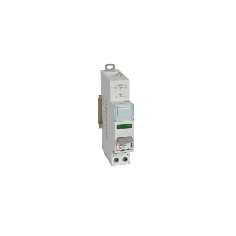 Legrand - {reference} - CX3 POUSS 1NO+V.VERT 110/400V