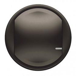 Enjoliveur interrupteur simple Céliane gris