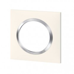 PLAQUE 1P BLANC CHROME
