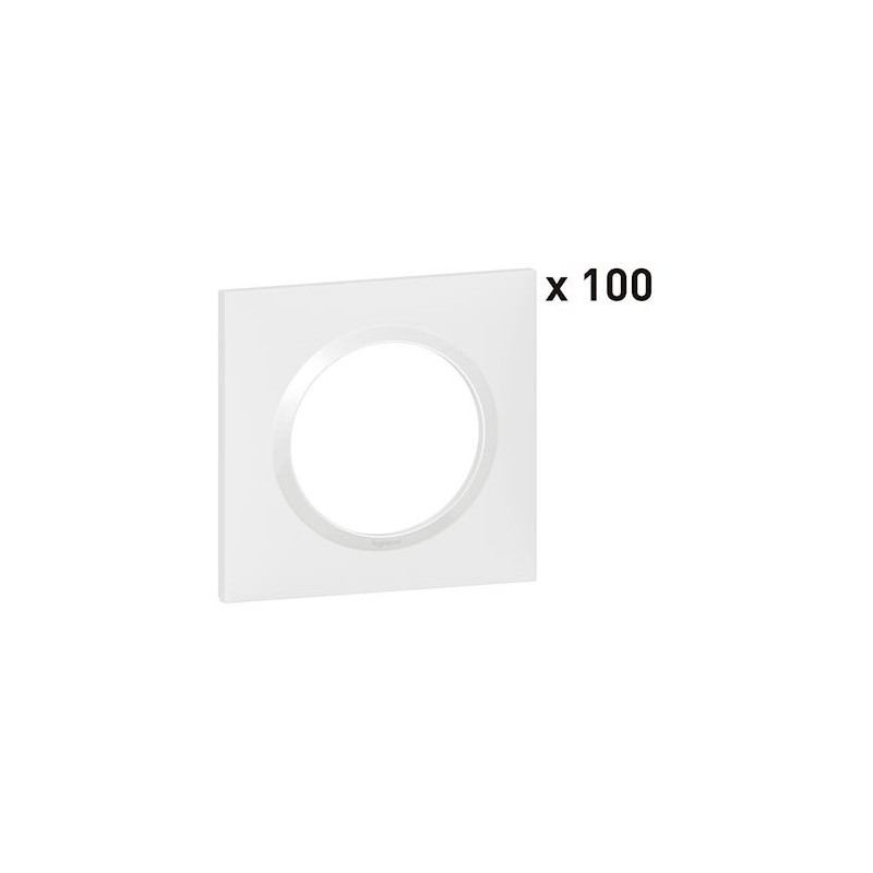 Legrand - {reference} - PLAQUE 1P BLANC X100