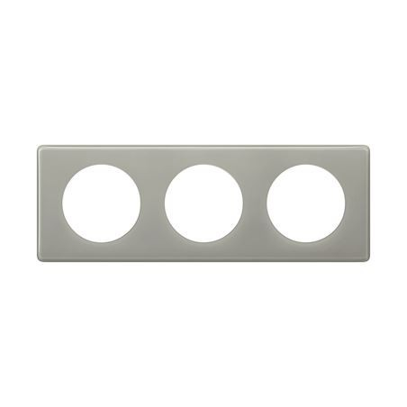 Legrand - {reference} - PLAQUE 3P GRIS PERLE