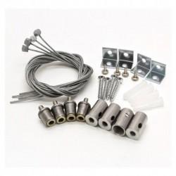 Miidex Lighting - {reference} - Kit de suspension pour Plafonniers 60 x 60 cm