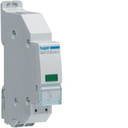 Hager - {reference} - Voyant LED vert 230VAC QCPB