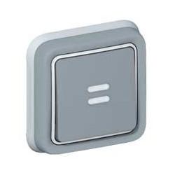 Legrand - {reference} - Poussoir NO + NF Prog Plexo complet encastré gris - 10 A