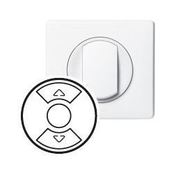 Legrand - {reference} - Enjoliveur Céliane - inter / poussoir / cde pour fenêtre de toit - blanc