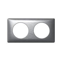 Plaque Céliane - anodisé - 2 postes - aluminium