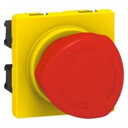 Legrand - {reference} - Legrand - 076602 - Poussoir coup de poing arrêt d'urgence Prog Mosaic - 1/4 de tour - 3 A - 2 mod