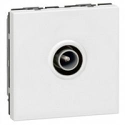 Legrand - {reference} - Legrand - 078782 -Prise TV Mosaic  9,52mm mâle 2 modules blanc