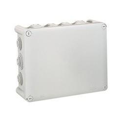 Bte rect 220x170x86 étanche Plexo gris - embout...